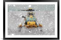 Sea King Snow, Framed Mounted Print