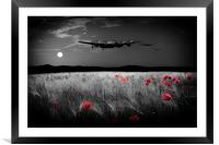 By The Silver Light - Red, Framed Mounted Print