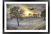 Winter In Bomber Country, Framed Mounted Print