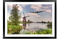 Bombers Over The Mills, Framed Mounted Print