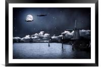 Caught In The Glare Of The Moon, Framed Mounted Print