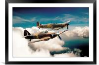 BBMF Spitfire and Hurricane, Framed Mounted Print