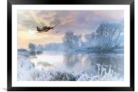 A Cold Cold Morning, Framed Mounted Print