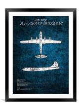 B29 Superfortress, Framed Mounted Print
