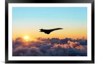 Concorde Above The Clouds, Framed Mounted Print