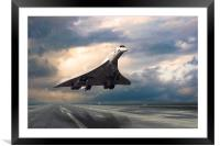 Concorde Rainy Arrival, Framed Mounted Print