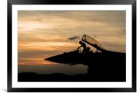 Typhoon SIlhouette, Framed Mounted Print
