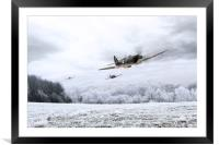 Home Through The Snow, Framed Mounted Print