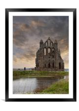 Whitby Abbey 1, Framed Mounted Print