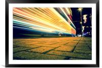 Speed of Light Blackpool, Framed Mounted Print