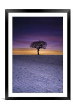 Winter's Isolation, Framed Mounted Print
