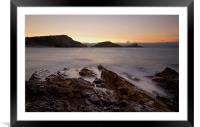 Mumbles lighthouse, Framed Mounted Print