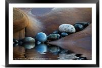 Reflected Stones, Framed Mounted Print