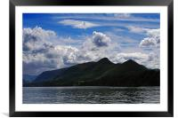 View Over Derwentwater, Framed Mounted Print