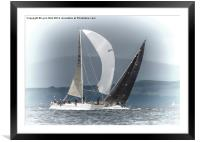 The Wind in my Sails, Framed Mounted Print