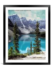 Moraine Lake, Framed Mounted Print