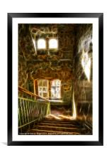 Abstract spooky stairs, Framed Mounted Print