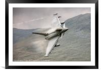 Typhoon with fluff over the wings, Framed Mounted Print