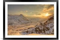 March sunset - Ogwen valley, Framed Mounted Print