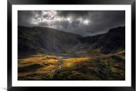 Cwm Idwal - Take a view, Framed Mounted Print