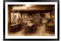 The Saloon Bar., Framed Mounted Print