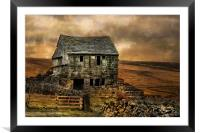 Derelict Cottage, Framed Mounted Print