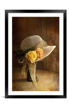 If you can't get ahead get a hat ., Framed Mounted Print