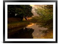 Sunrise along the Canal , Framed Mounted Print
