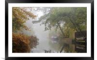 Autumn on the Basingstoke Canal, Framed Mounted Print