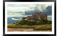 Cloudy Bamburgh Castle, Framed Mounted Print