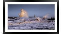 Seaham storm, Framed Mounted Print