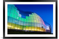 The Sage Building decorated with light., Framed Mounted Print
