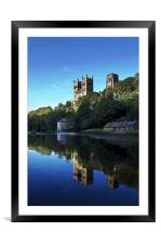 Durham Cathedral Reflection, Framed Mounted Print