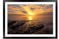 rocky sunrise, Framed Mounted Print