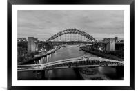 Newcastle Quayside, Framed Mounted Print