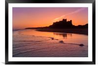 Bamburgh Castle Sunrise, Framed Mounted Print