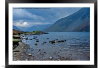 Wast Water Views, Framed Mounted Print