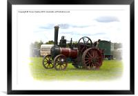 Steam Traction Engine, Framed Mounted Print