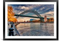Autumn on the River Tyne, Framed Mounted Print