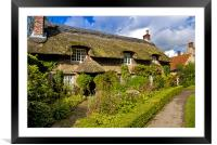 A Country Cottage, Framed Mounted Print