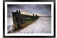 The Grubby Groyne, Framed Mounted Print