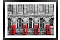 Red Telephone Boxes, Framed Mounted Print