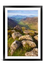 The Newlands Valley, Cumbria, Framed Mounted Print
