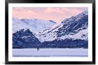 Wintertime At Derwent Water, Framed Mounted Print