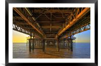 Below The Pier, Framed Mounted Print
