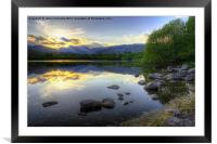 Last Light At Elterwater, Framed Mounted Print