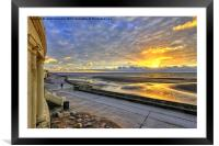 Blackpool At Golden Hour, Framed Mounted Print