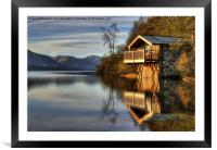 Ullswater Boathouse, Framed Mounted Print
