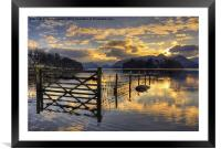 Derwentwater Dreams, Framed Mounted Print