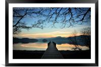 Coniston Dusk, Framed Mounted Print